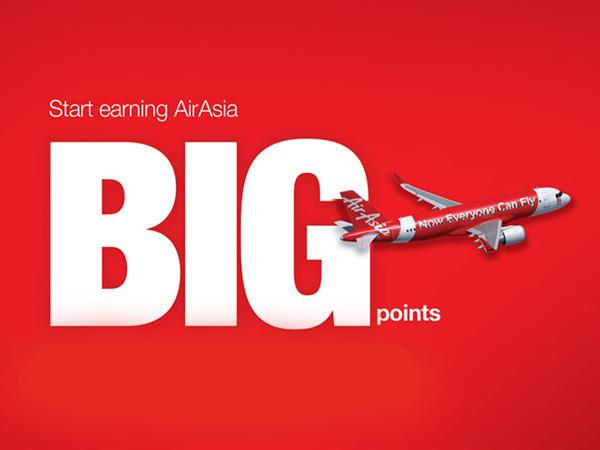Start earning AirAsia BIG points today!