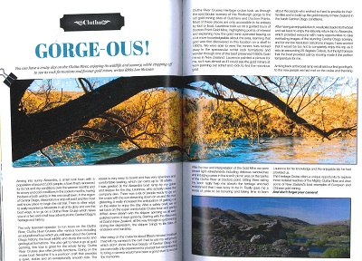 Travel NZ Magazine - Clutha River Cruises Heritage Cruise