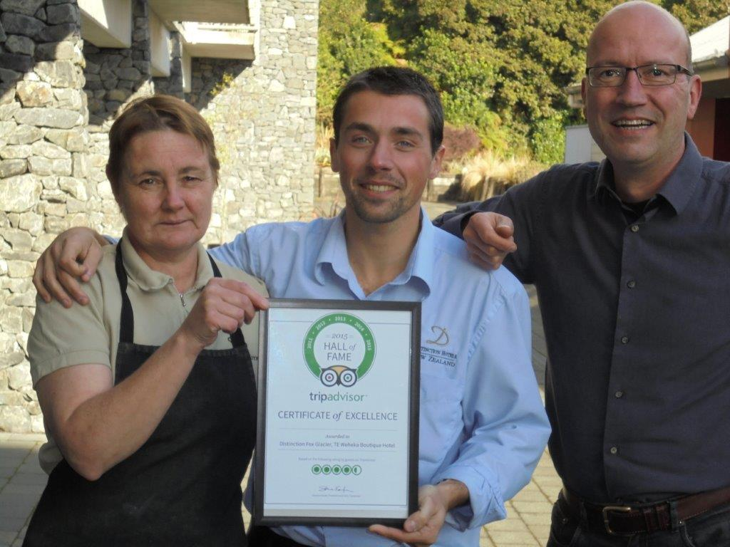 Tripadvisor Award for Distinction Fox Glacier