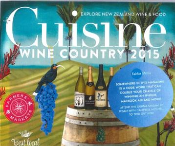 Cuisine Wine Country 2015