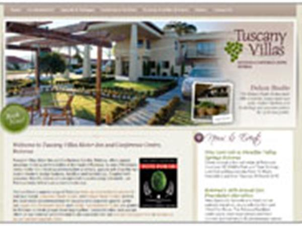 Elegant new website for Tuscany Villas Motor Inn & Conference Centre, Rotorua