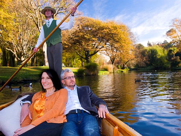 Punting on the Avon River Distinction Christchurch Hotel