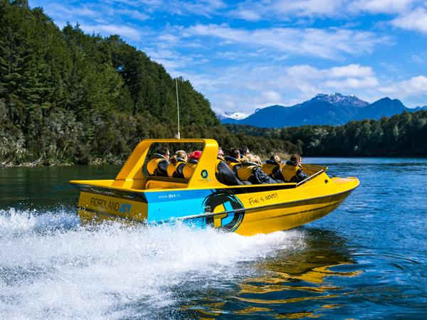 Jetboating in Fiordland