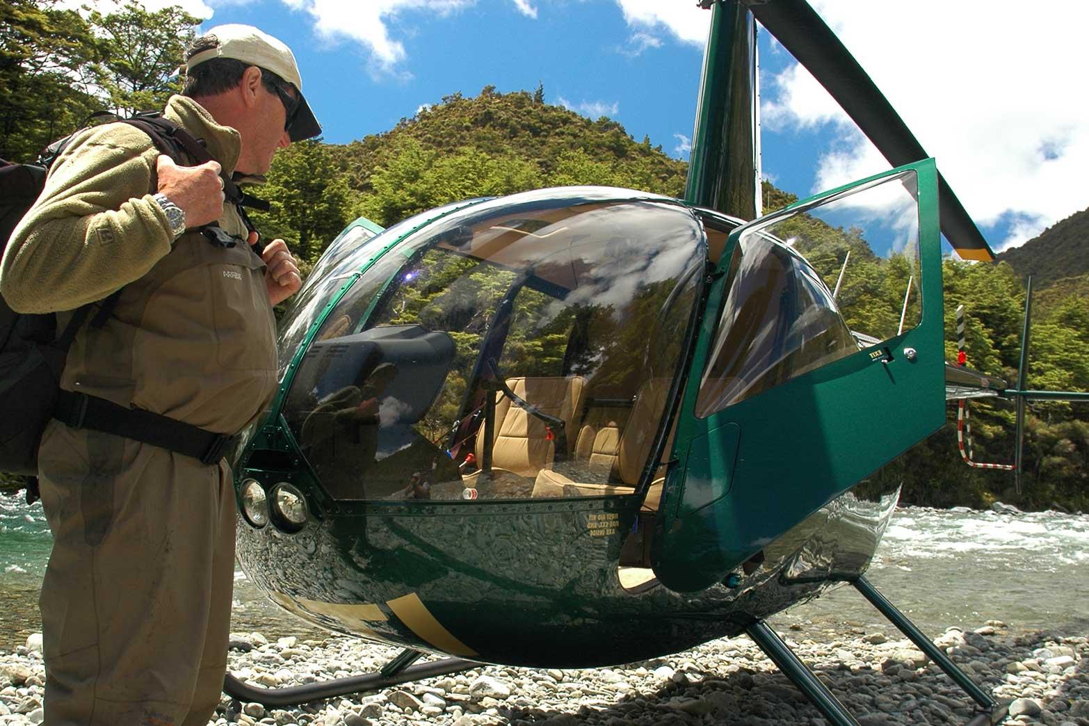 Remote Heli Fishing Flyfish Taupo