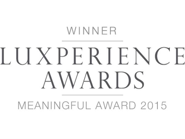 2015: Luxperience Awards 2015 – WINNER