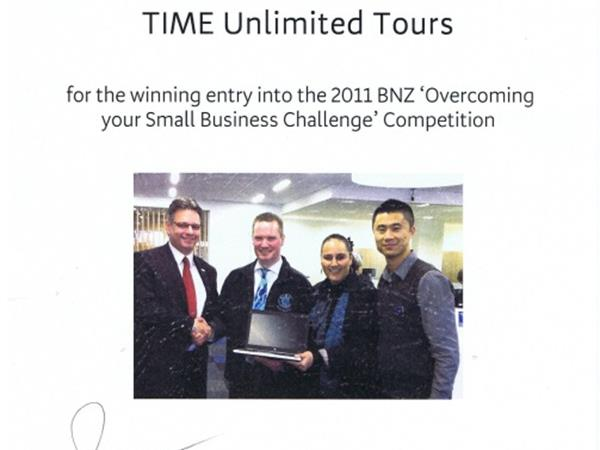 2011: National Bank of New Zealand Small Business Competition - WINNER