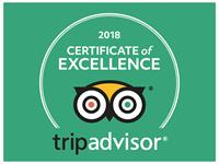 Tripadvisor Certificate of Excellence WINNER 7 years in a row for the years 2011 - 2017