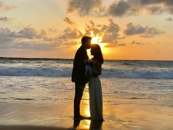 Wedding Blessing by the Beach Swiss-Belhotel Petitenget
