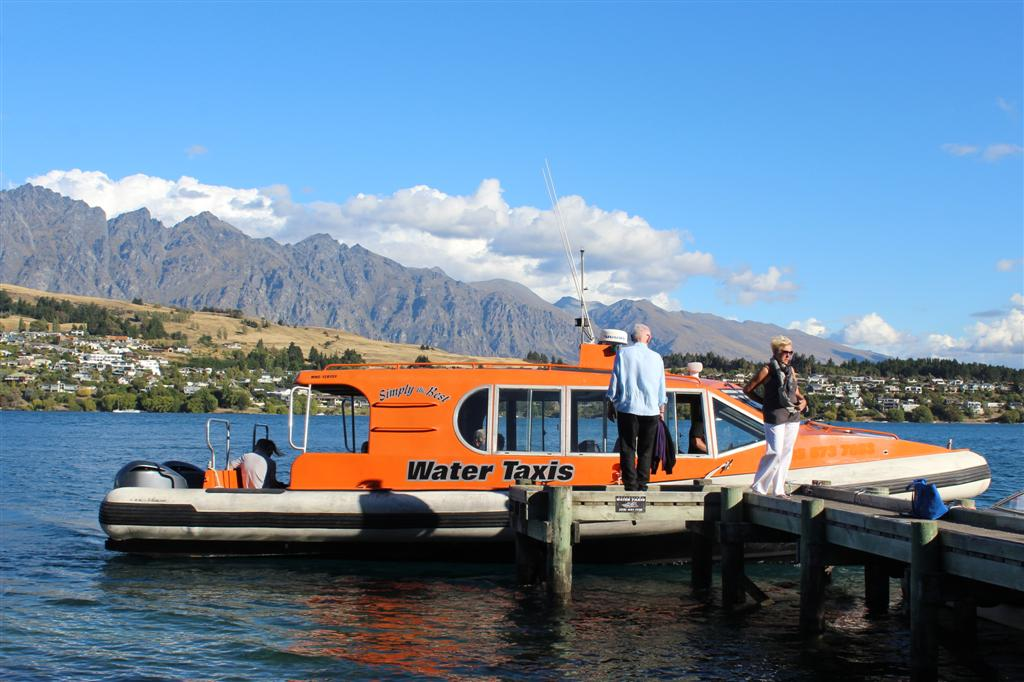 Ride the water taxi to town and back