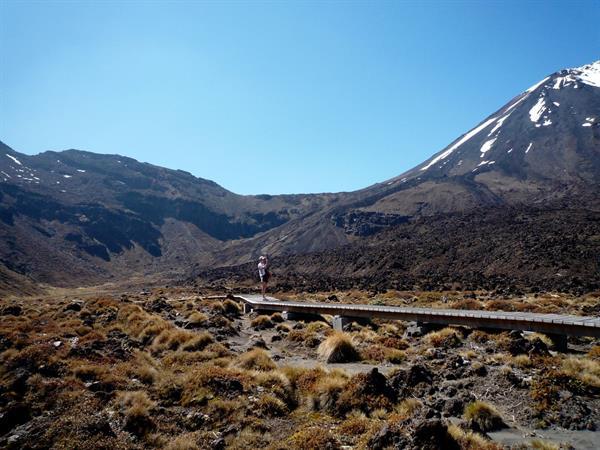 Mangatepopo Car Park To Soda Springs Tongariro Alpine Crossing
