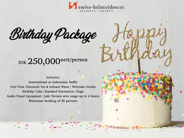 Birthday Package Swiss Belresidences Kalibata