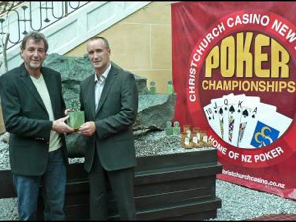 NZ Poker Championship At Christchurch Casino Ian Boustridge - Jade Sculptor