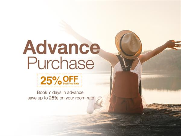 Advance Purchase - up to 30% OFF!