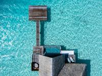 End of Pontoon Overwater Suite with Pool Le Bora Bora by Pearl Resorts