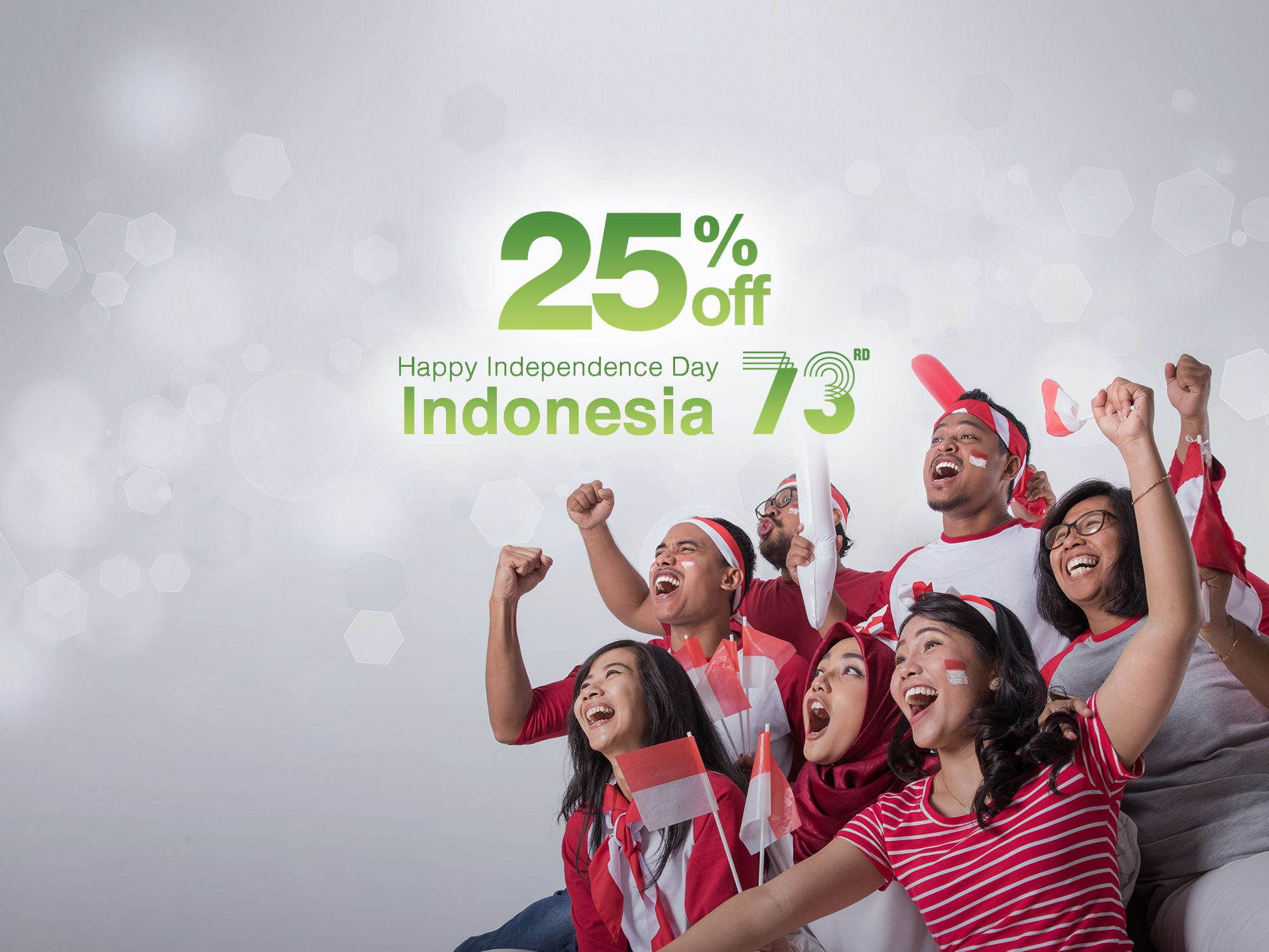 Celebrate Independence Day of Indonesia with Us and Enjoy 25% OFF!