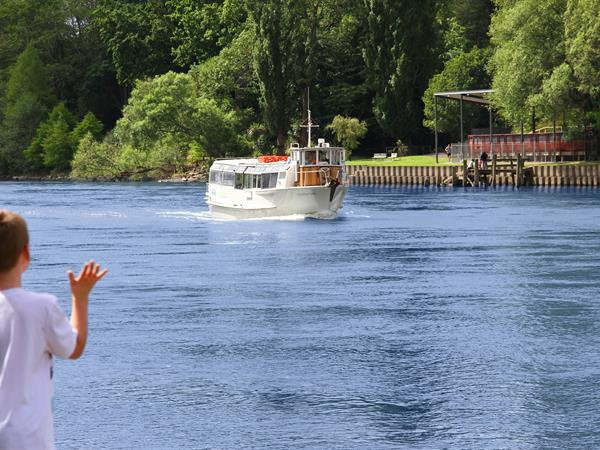 Seniors cruise for free with a full fare-paying Adult Waikato River Explorer