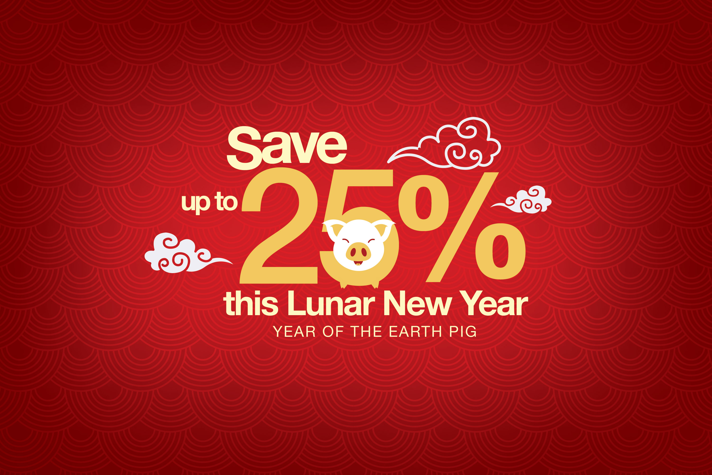 Lunar New Year - 25% OFF!