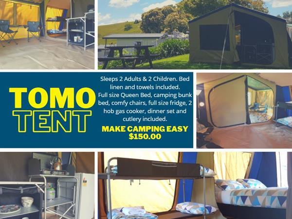 Tomo Tent Waitomo Top 10 Holiday Park