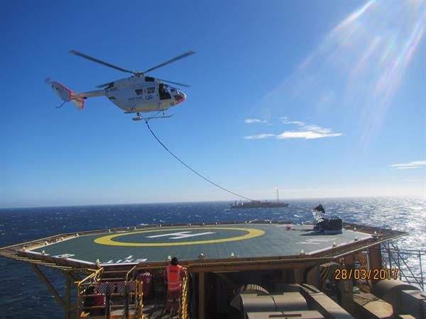 Difficult Access Helicopter Cranes