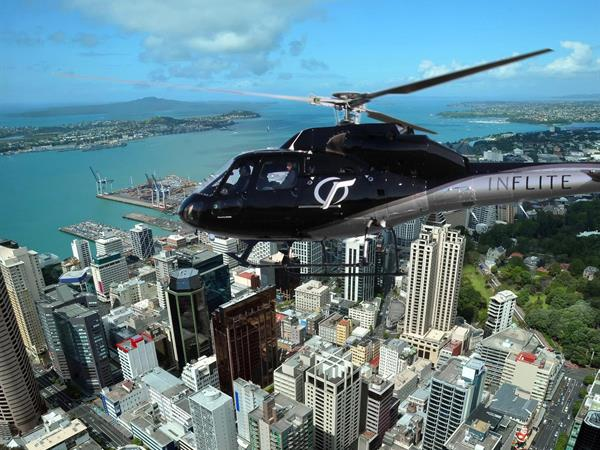 Auckland Downtown <i>flying to/from</i> Solitaire Lodge
