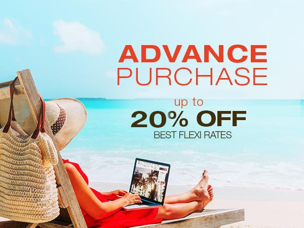 Advance Purchase - 15% OFF