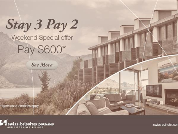 Stay 3 Pay 2 - Weekday and Weekends Special Offer