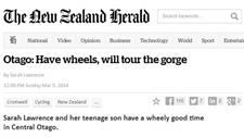 New Zealand Herald - Sarah Lawrence - Have Wheels will Travel