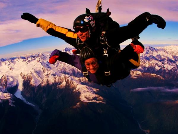 Sky Diving in Fox Glacier