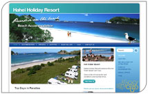 Hahei Holiday Resort's new website – just in time for summer!