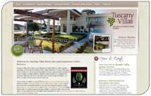 Elegant new website for Tuscany Villas Motor Inn & Conference Centre, Rotorua