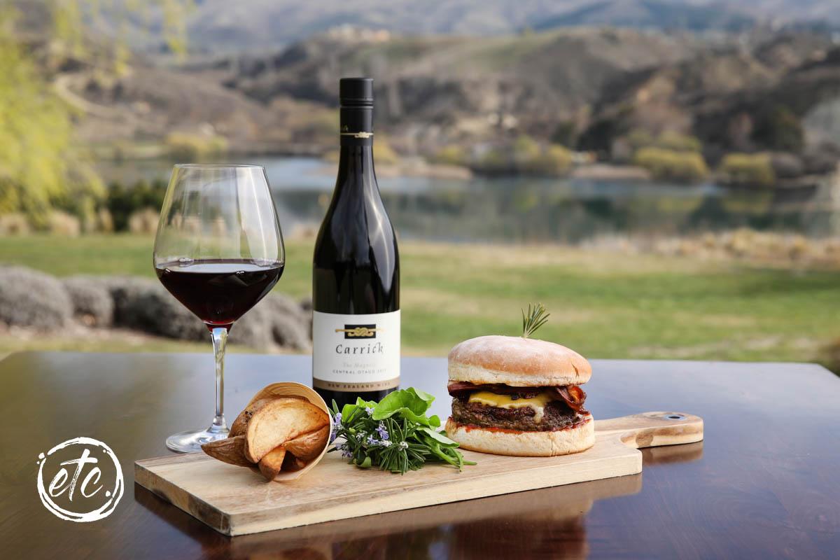 Carrick Gourmet Beef Burger @ Carrick Winery & Restaurant