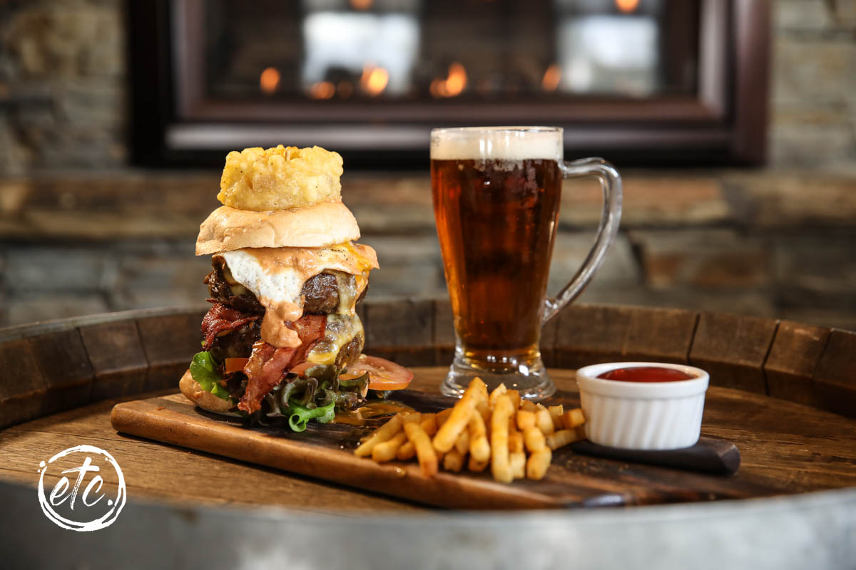 Cardrona Merino Lamb Burger @ The Moorings Restaurant