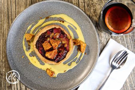 Apple & Tamarillo Tart @ Olivers Restaurant